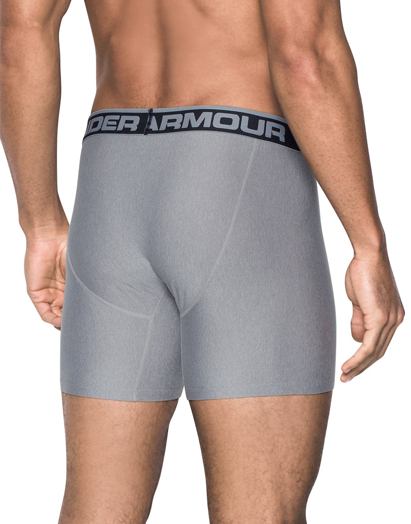 True Grey Heather/Carbon Grey Back Under Armour Original Series 6 Boxerjock 2-Pack