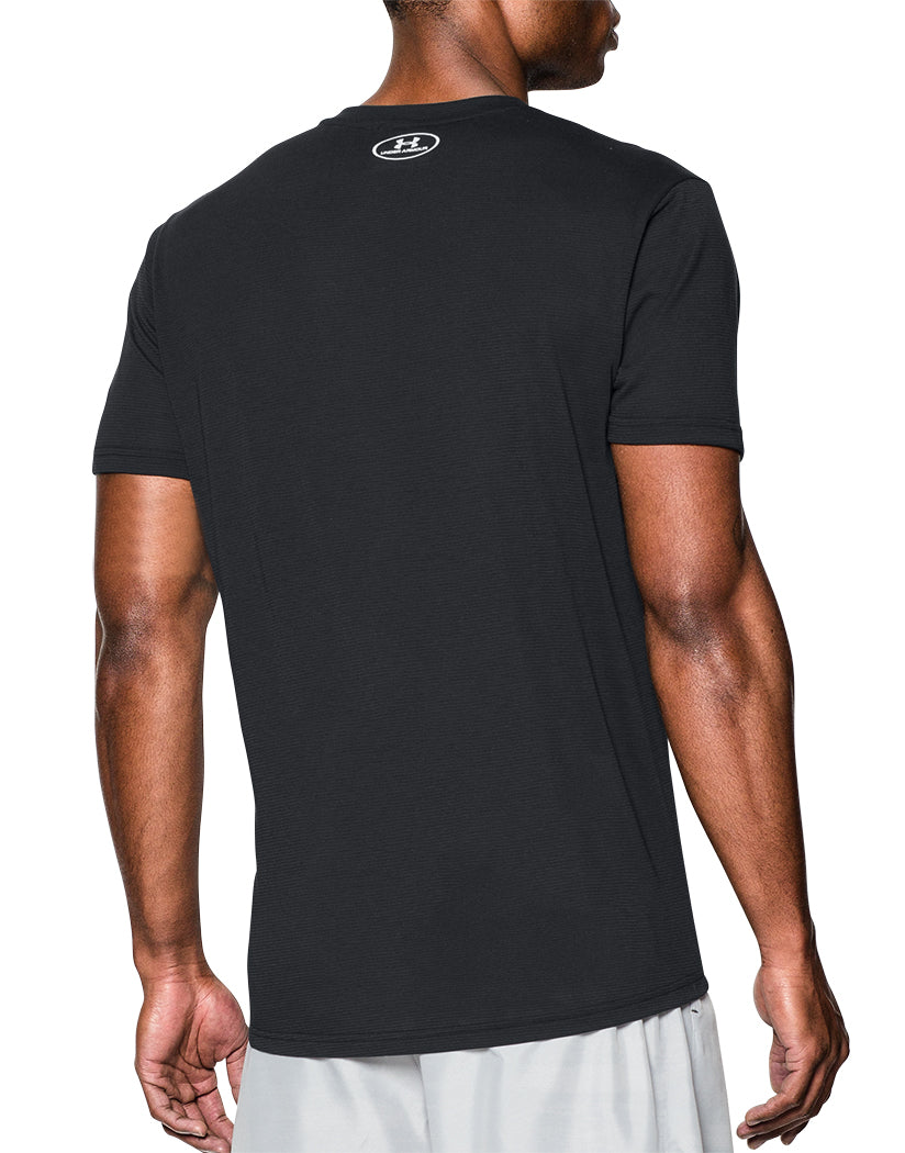 Black Back Under Armour Streaker Run V-Neck T-Shirt
