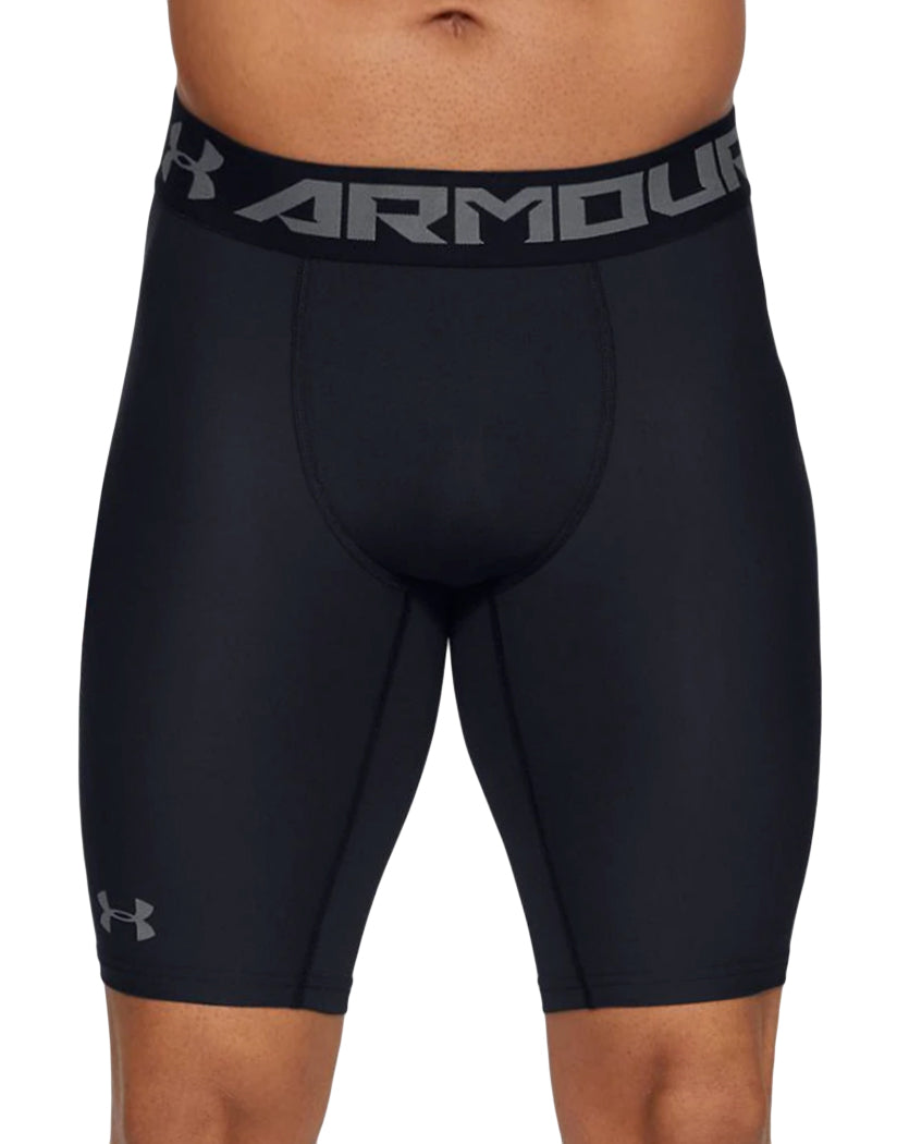 Black/Graphite Front Under Armour HeatGear Armour 2.0 Long Compression Short 1289568