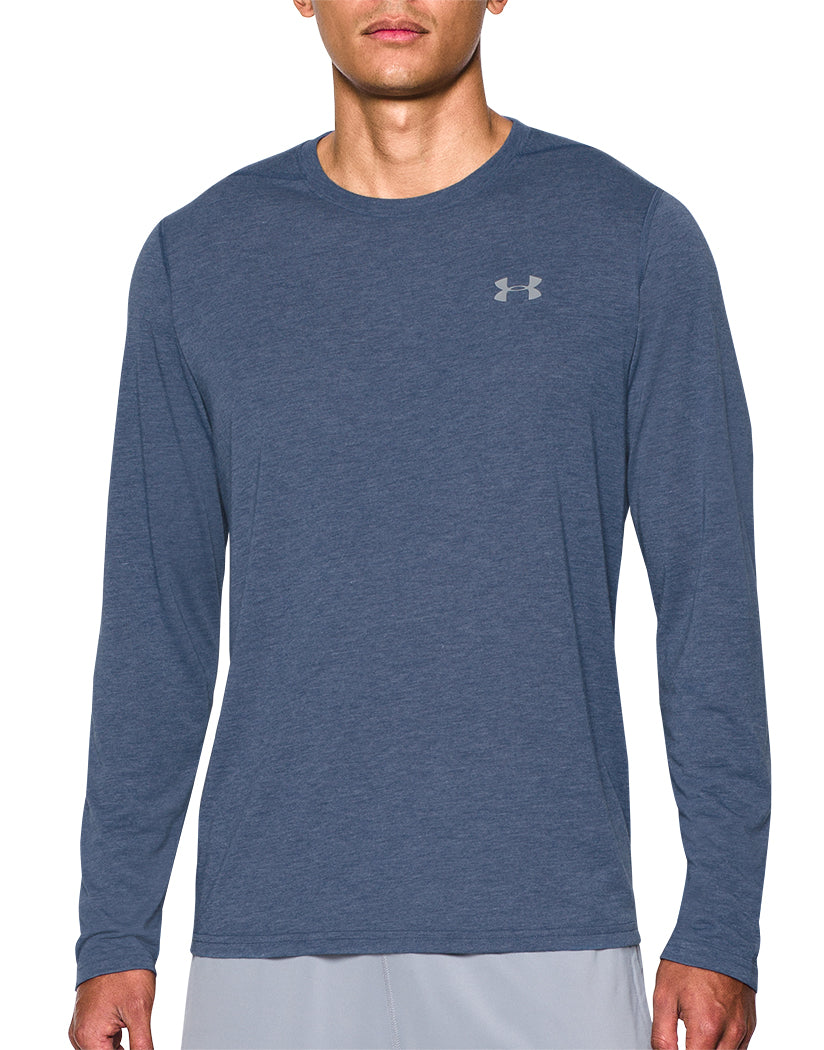 Under Armour Threadborne Long Sleeve Shirt Blue/Grey L 190086940533