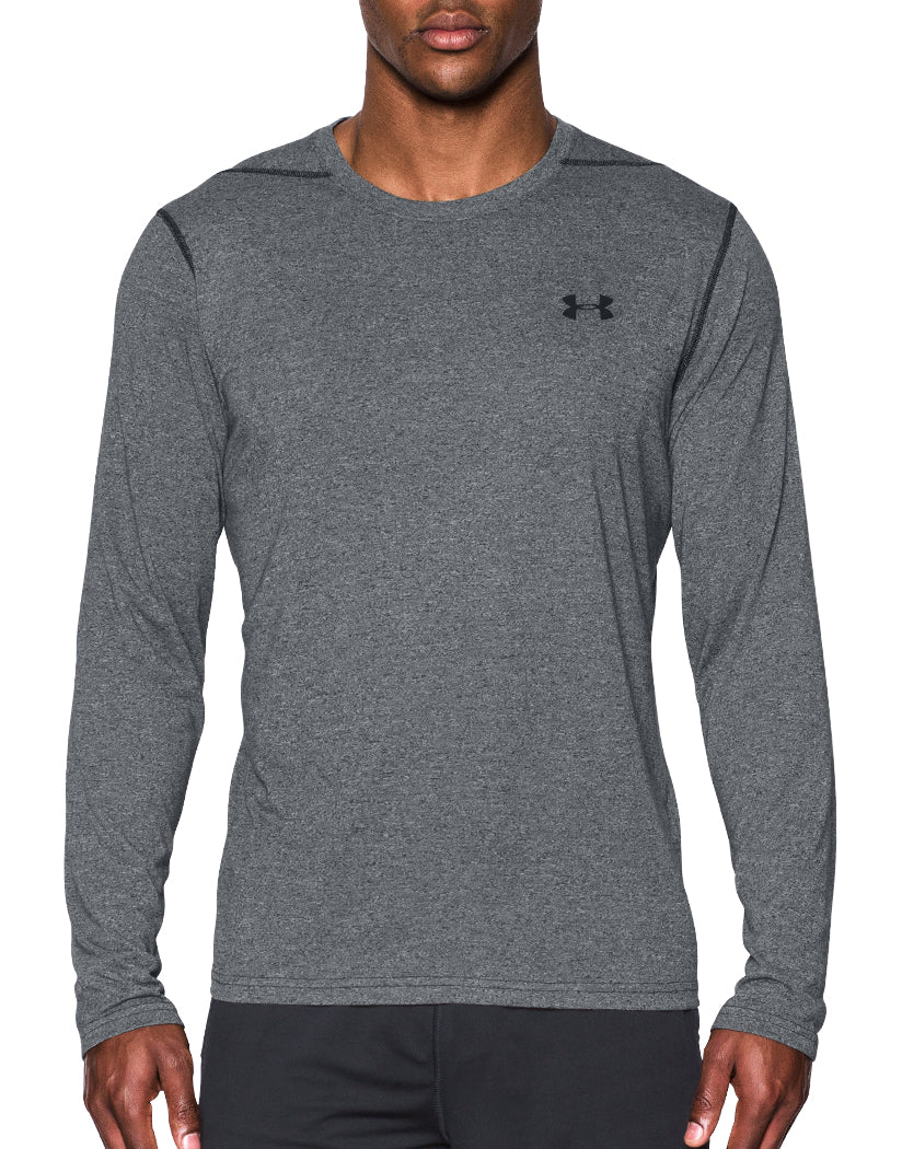 Under Armour Threadborne Long Sleeve Shirt Black/Black S 190086940373