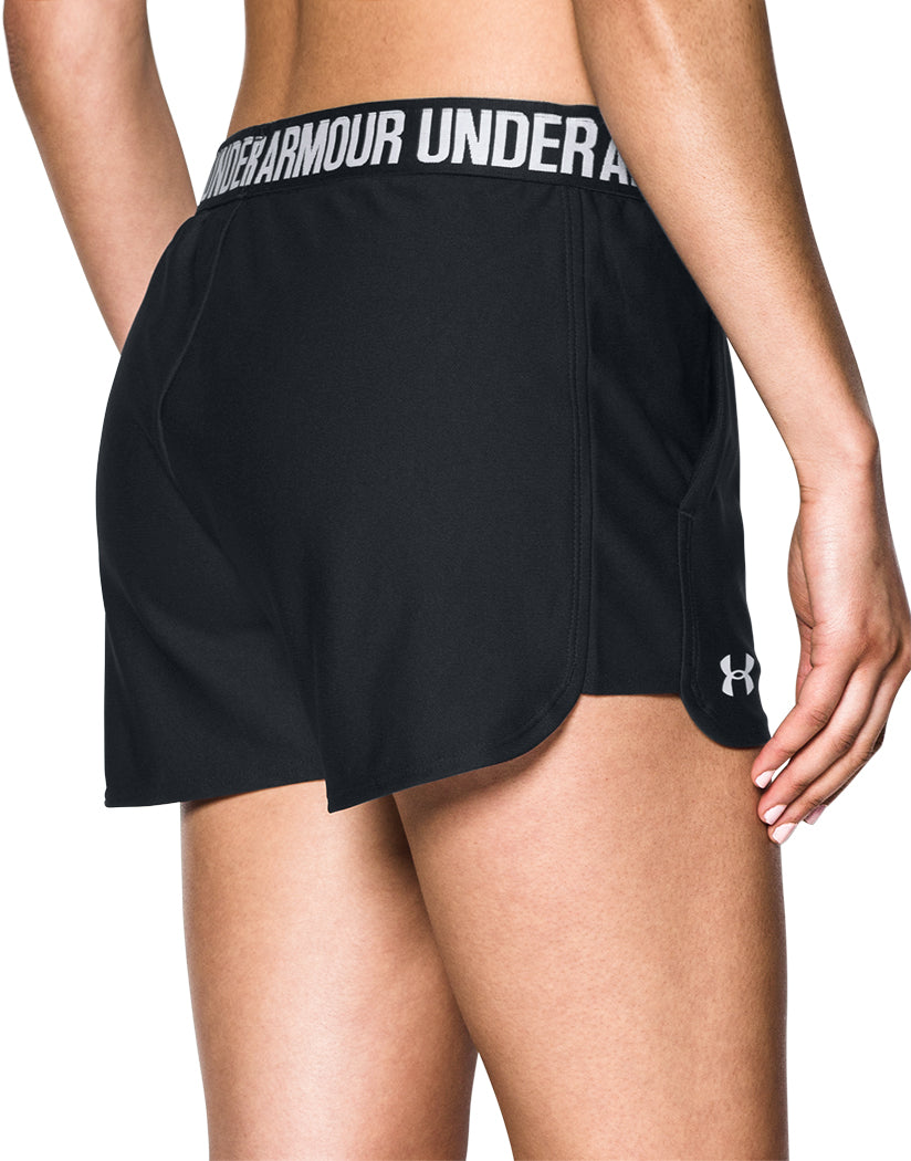 Black-Black Back Under Armour Women Play Up Short 2.0