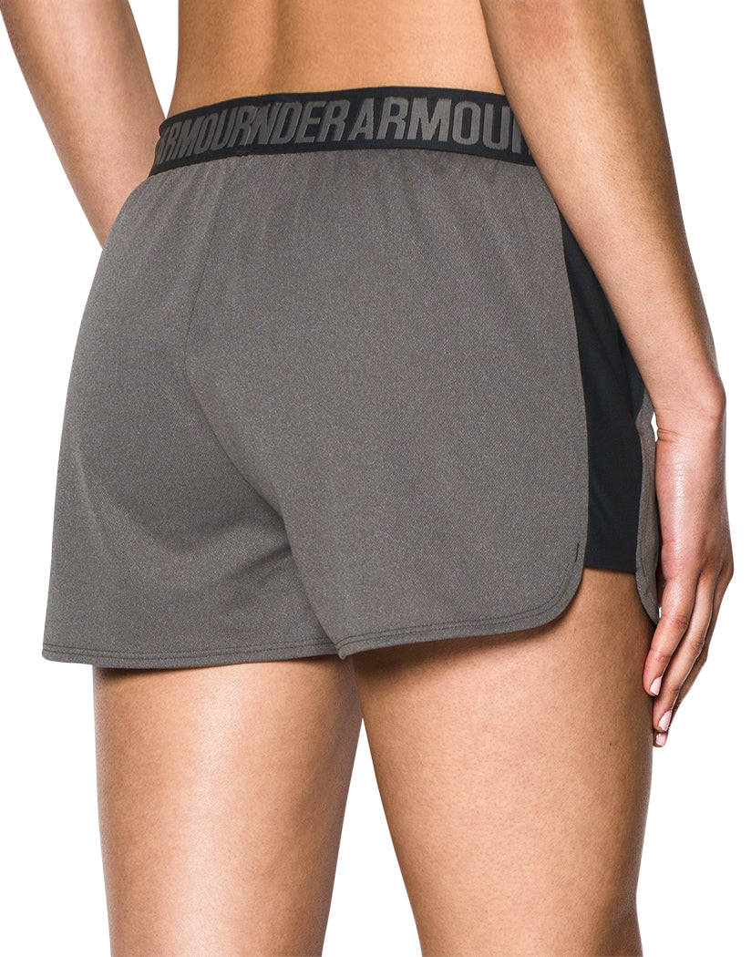 Grey-Black Back Under Armour Women Play Up Short 2.0