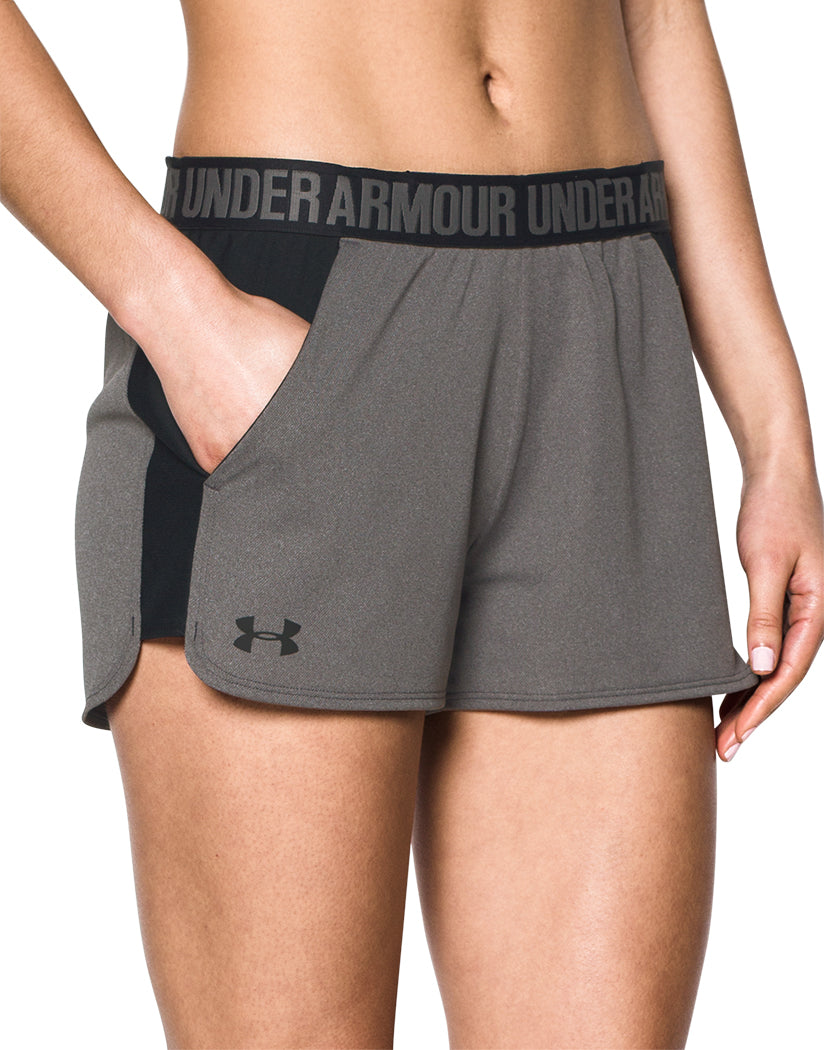 Under Armour Women Play Up Short 2.0 Carbon Heather/Black M 190085386264