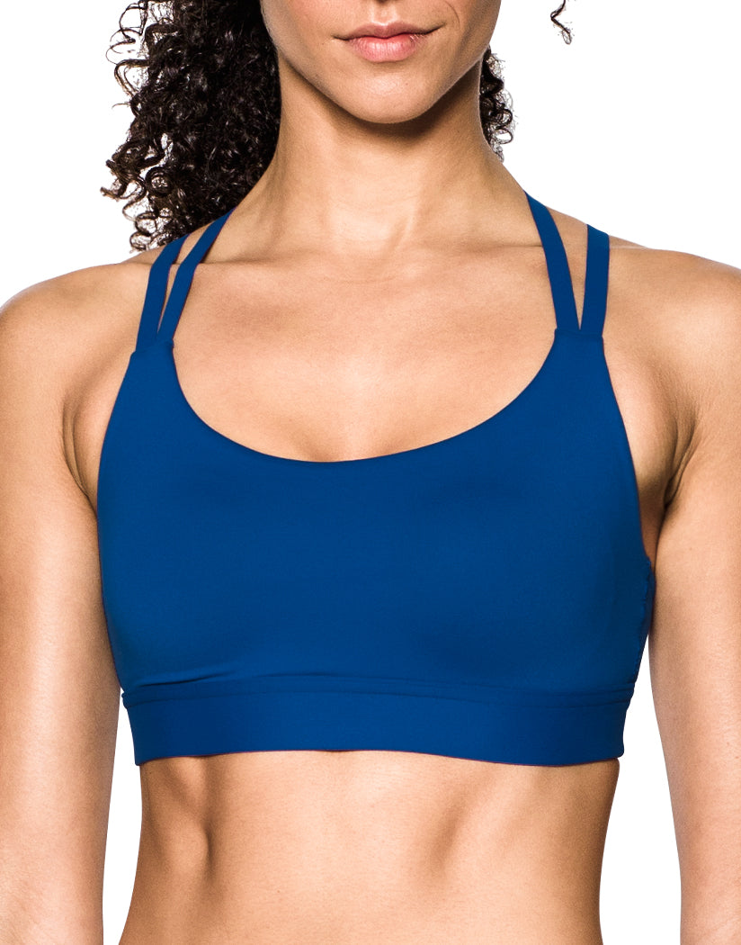 Royal Blue Front Under Armour Women Eclipse Low Strappy Sport Bra 1293928