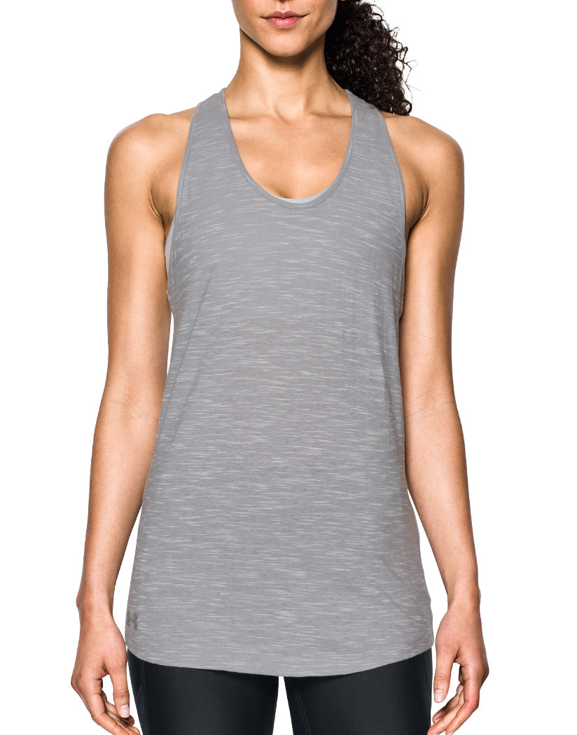 Under Armour Women Stadium Tank Tops True Gray Heather/True Gray Heather M 190496287365