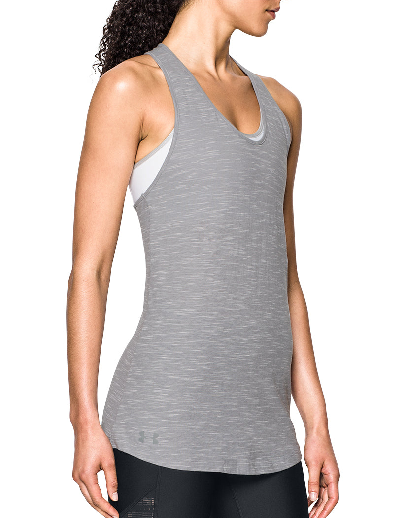 Light Grey Side Under Armour Women Stadium Tank Top