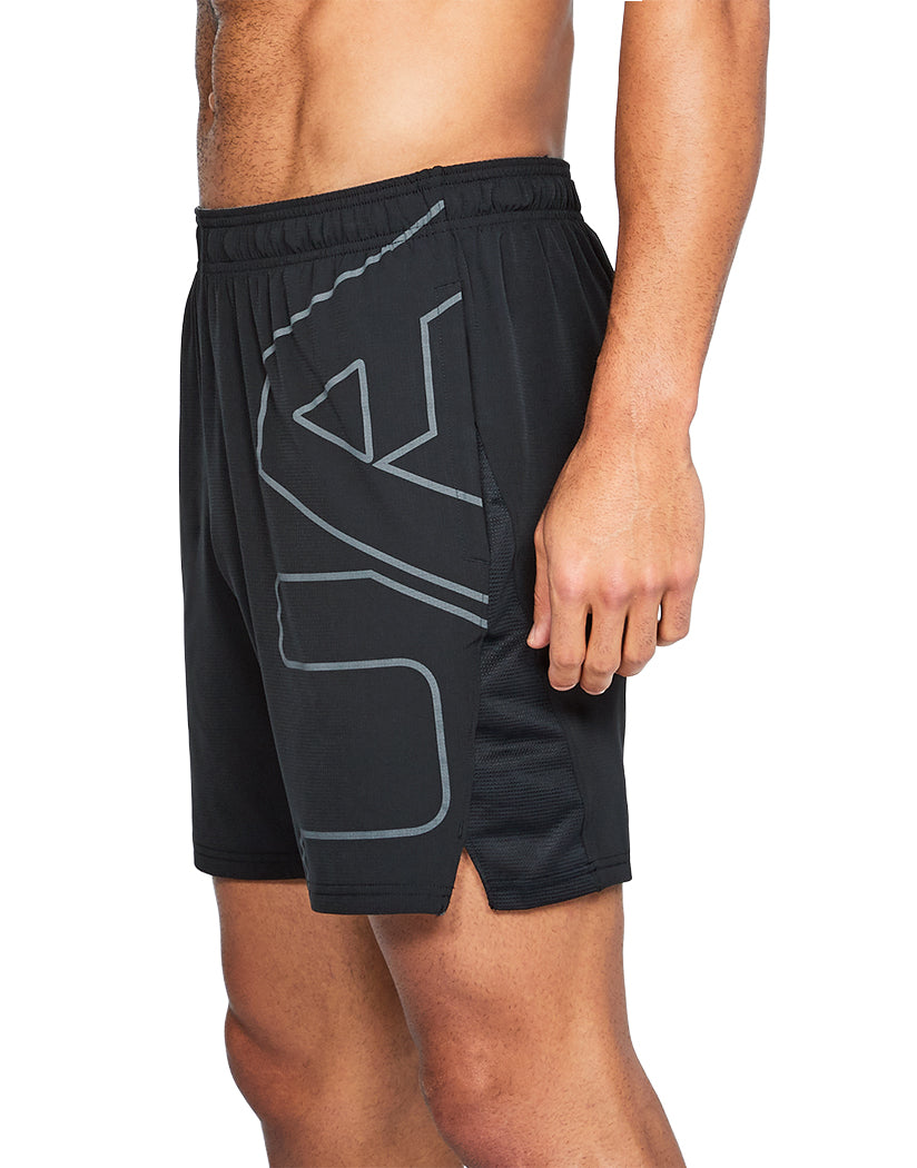 Black Side Under Armour Cage Graphic Short