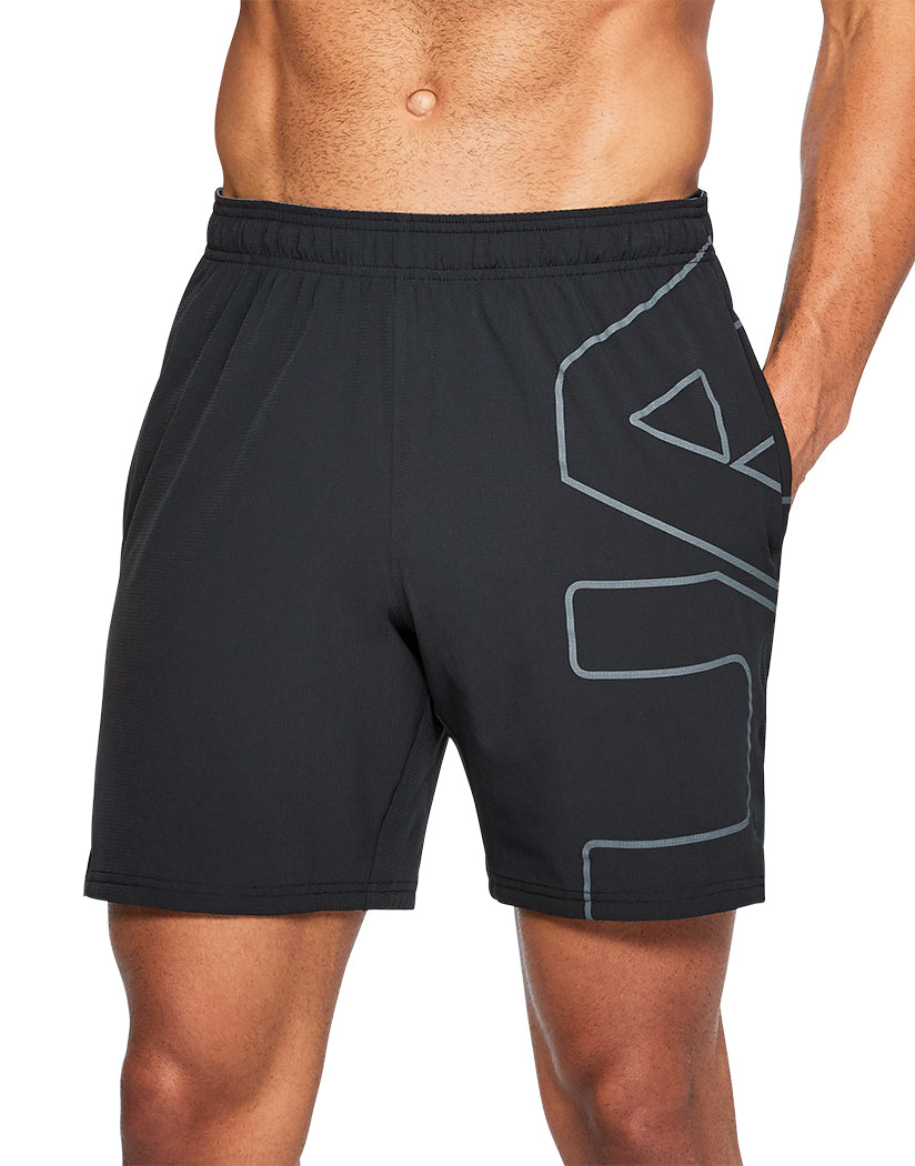 Black Front Under Armour Cage Graphic Short
