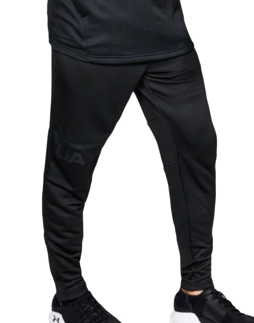 Black-Anthracite Front Under Armour MK1 Terry Tapered Pant 1306447