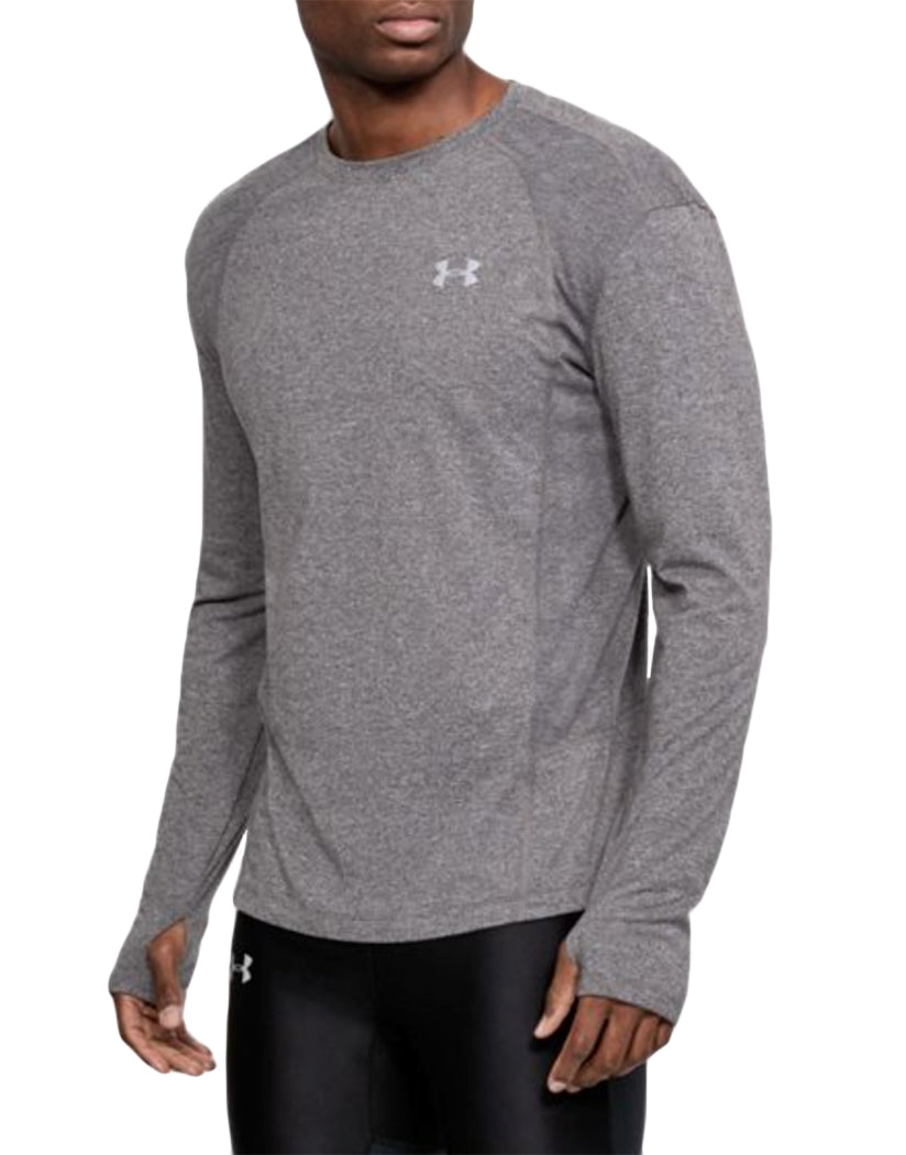 Charcoal Light Heather Front Under Armour Swyft Long Sleeve Tee 1318418