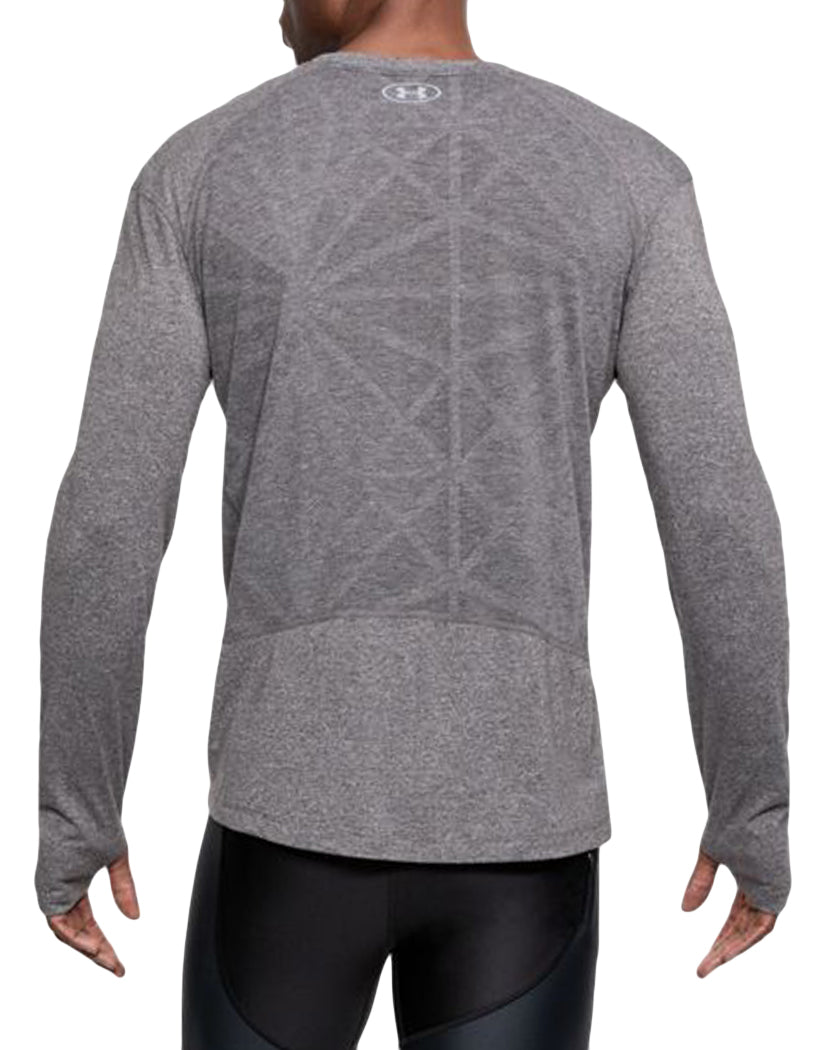 Charcoal Light Heather Back Under Armour Swyft Long Sleeve Tee 1318418