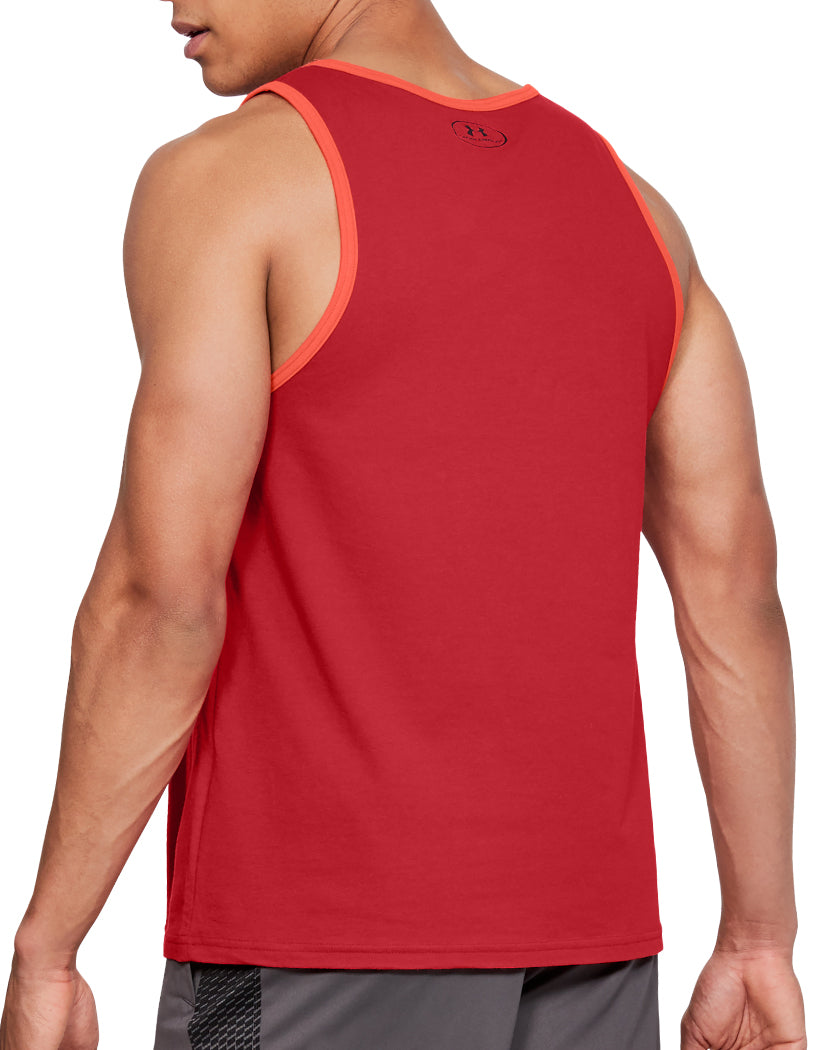 Red Back Under Armour Stacked Left Chest Tank