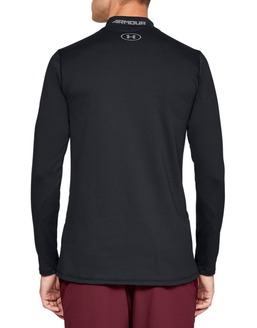 Black/Steel Back Under Armour ColdGear Armour Mock Fitted Long Sleeve 1320805