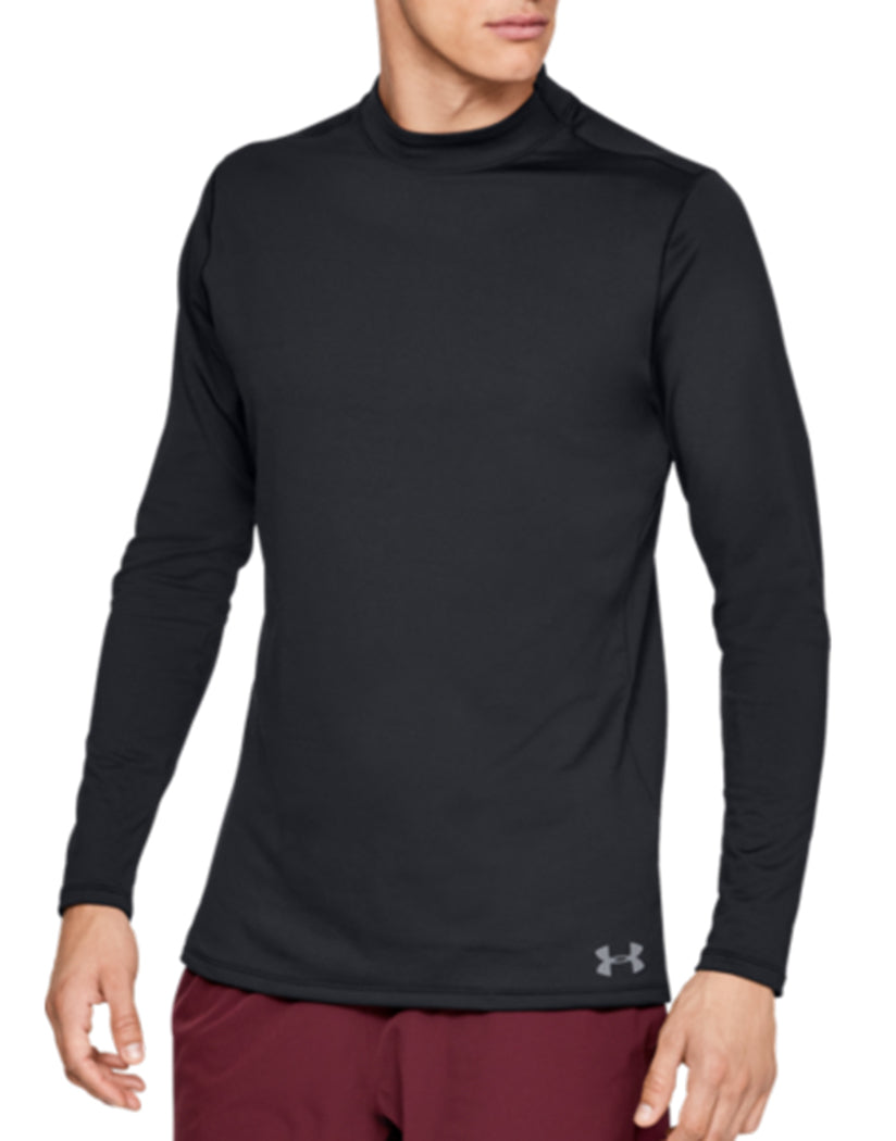 Black/Steel Side Under Armour ColdGear Armour Mock Fitted Long Sleeve 1320805
