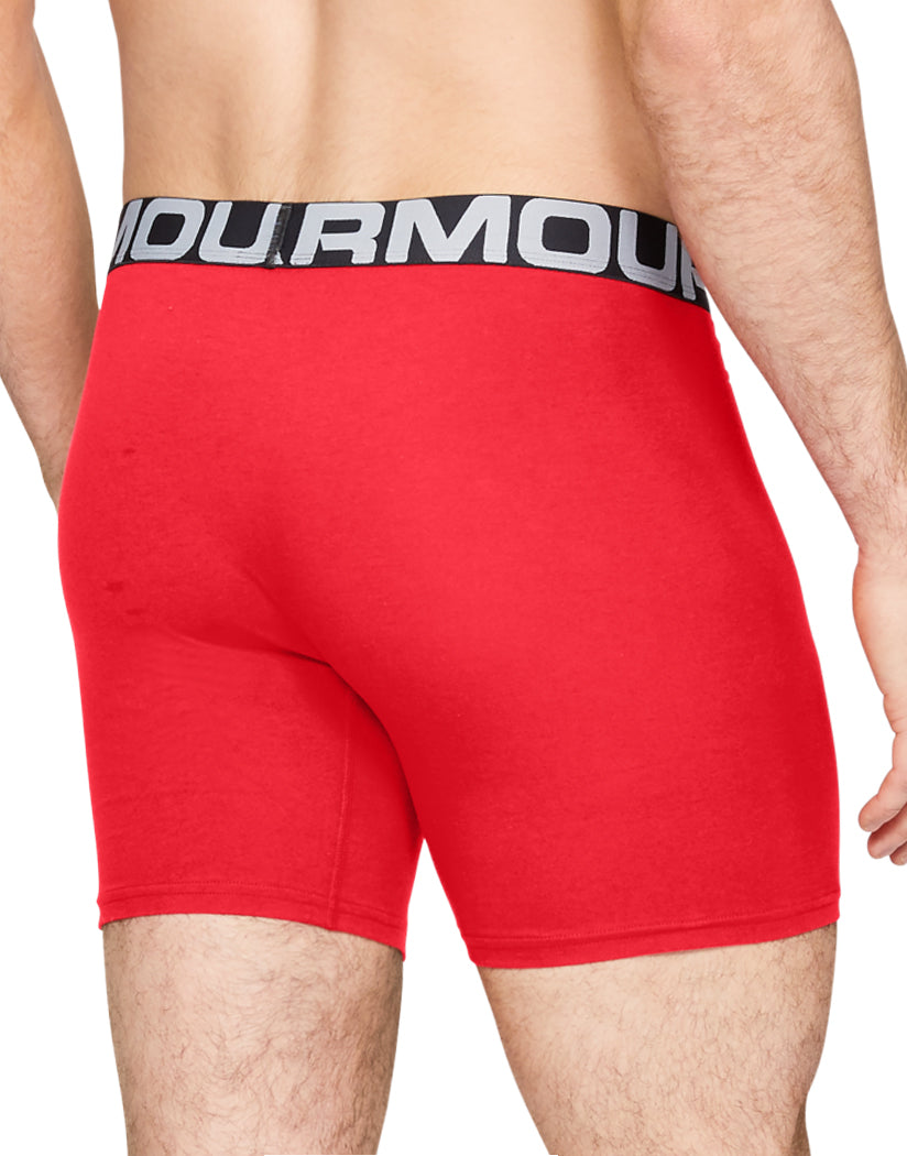 Red/Academy/Mod Gray Medium Heather Back Under Armour Charged Cotton 6