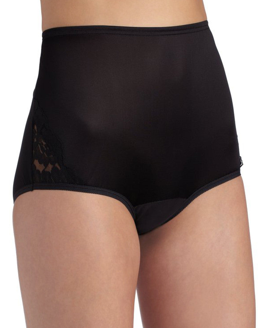 Midnight Black Front Vanity Fair Perfectly Yours Lace Nouveau Brief