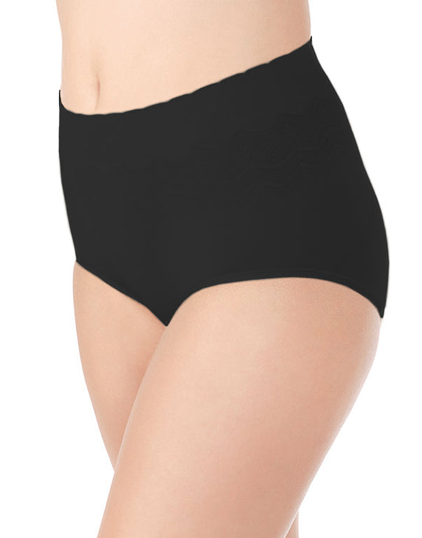 Midnight Black Front No Pinch, No Show Brief Seamless