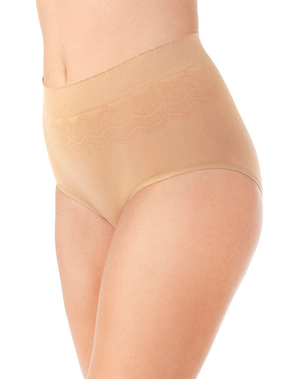 Soft Toffee Lace Front No Pinch, No Show Brief Seamless