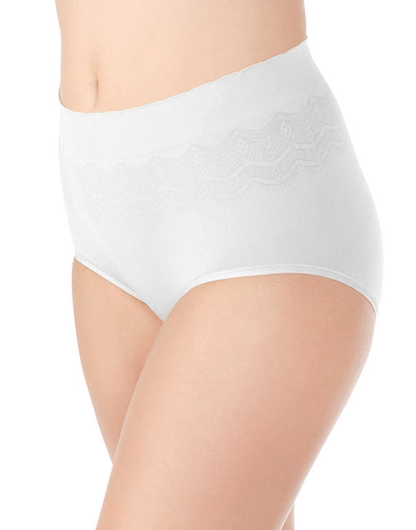 Star White Front No Pinch, No Show Brief Seamless