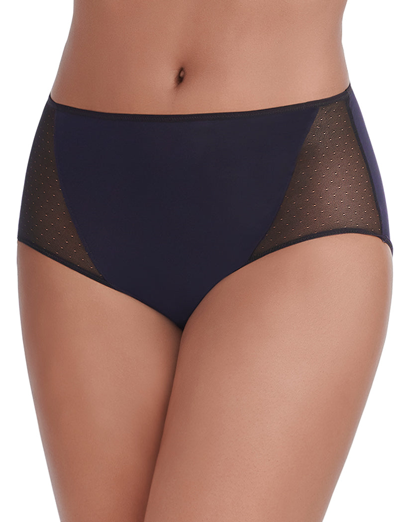 Midnight Black Front Vanity Fair Breathable Luxe Brief 13180