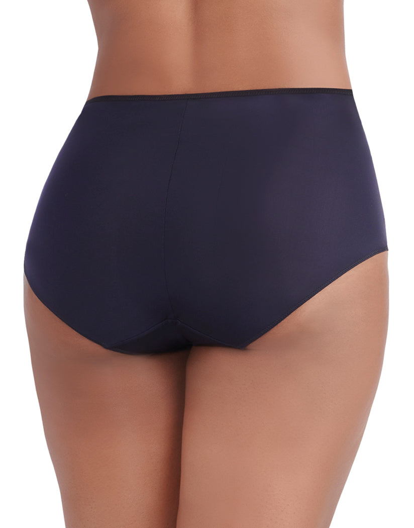 Midnight Black Back Vanity Fair Breathable Luxe Brief 13180