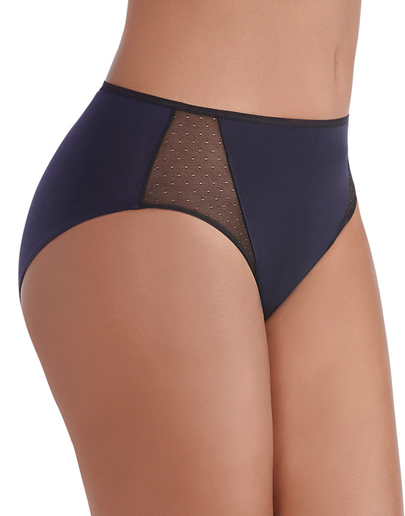 Midnight Black Side Vanity Fair Breathable Luxe Brief 13180