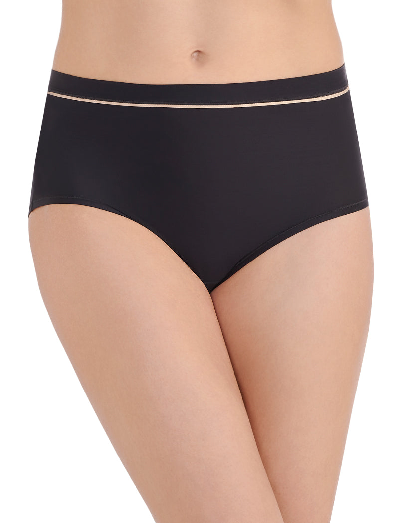 Midnight Black Front Vanity Fair Light and Luxe Brief Panty