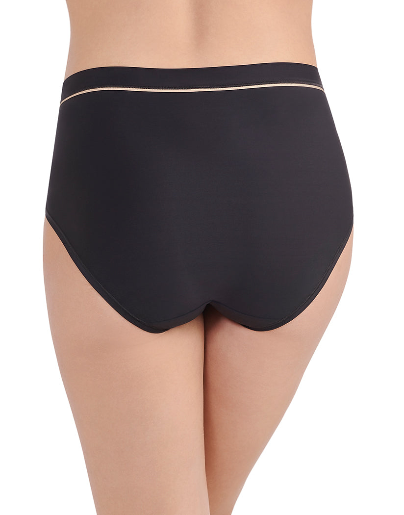 Midnight Black Back Vanity Fair Light and Luxe Brief Panty