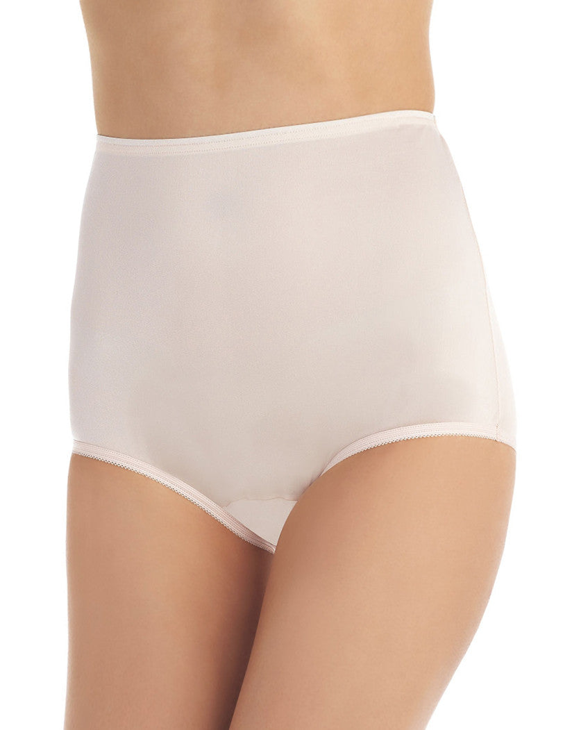 Blushing Pink Front Vanity Fair Perfectly Yours Ravissant Premium Tailored Nylon Brief - 15712