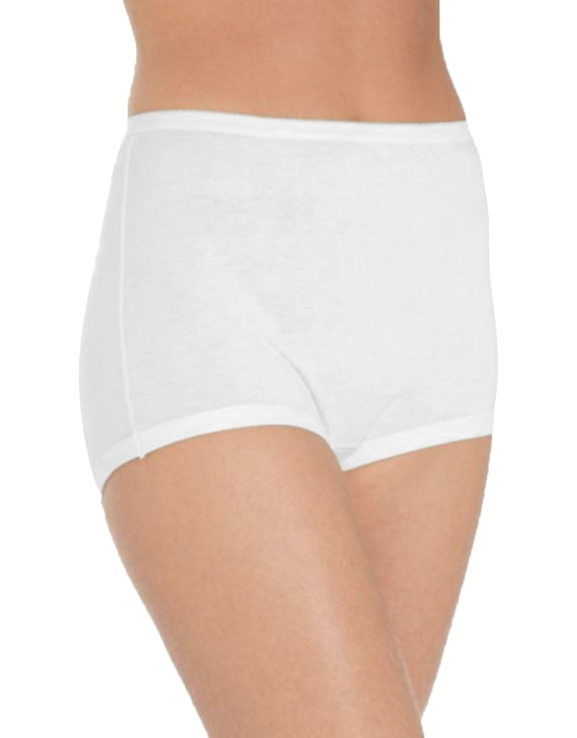 White Front Vanity Fair 3-Pack Lollipop Full Figure Cuffed Legband Brief