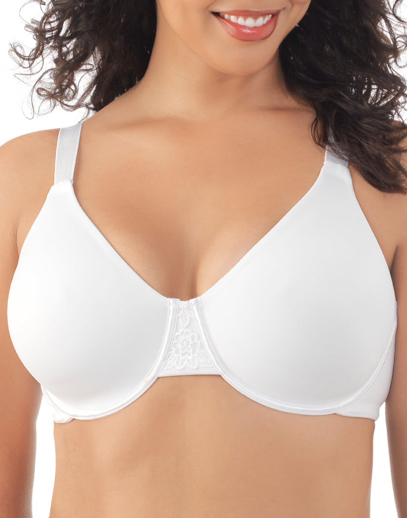 Star White Front Vanity Fair Back Smoothing Full Figure Minimizer Bra