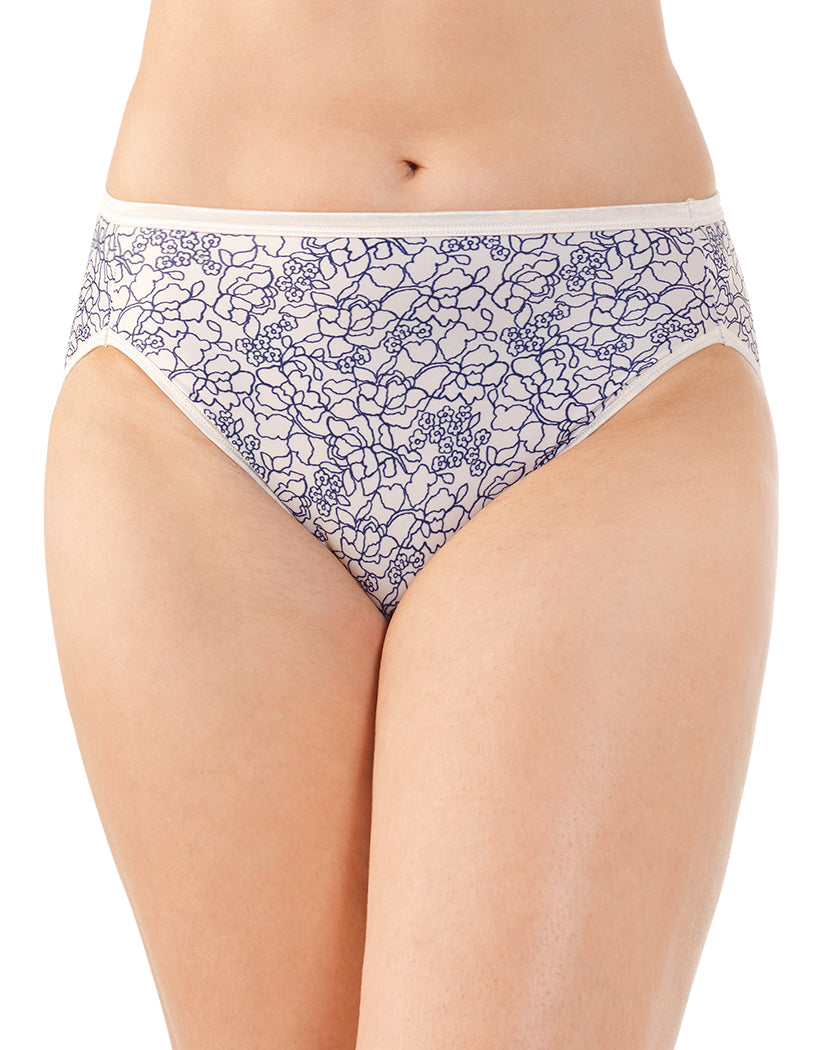 Tranquil Lace Print Front Vanity Fair Illumination Hi-Cut Panty 13108