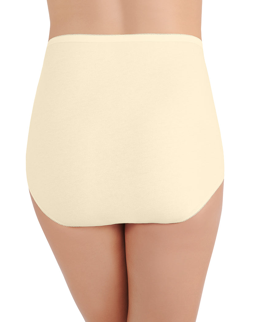 Vanity Fair Womens 15318 PerfectlyYours Tailored Cotton Brief Panty White 10//3XL