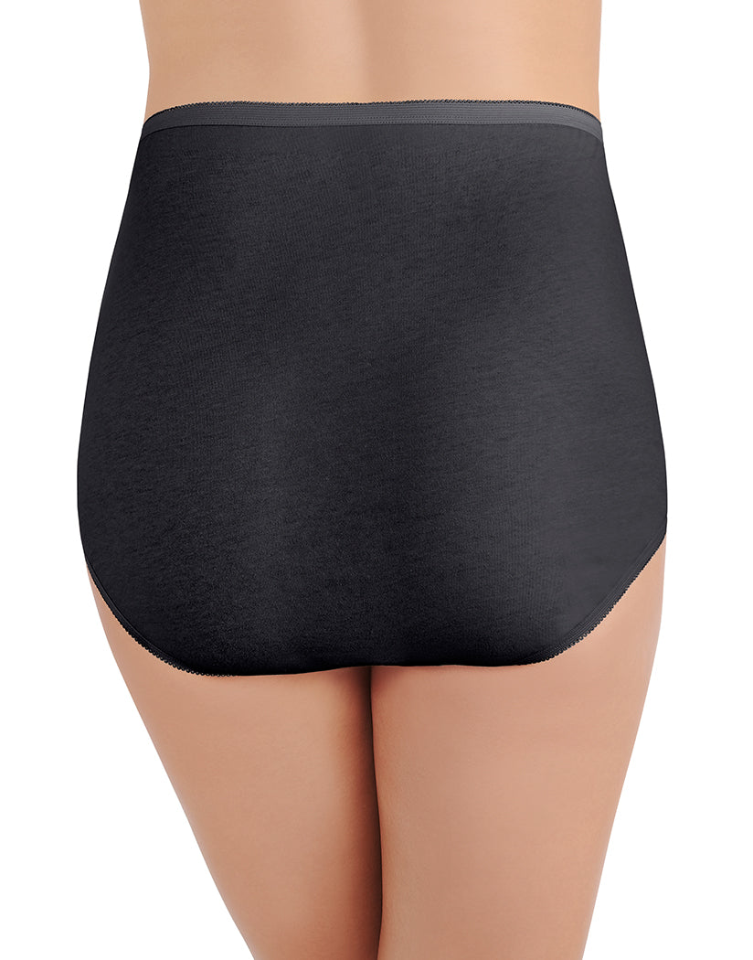 Midnight Black Back Vanity Fair Perfectly Yours Tailored Cotton Brief 15318
