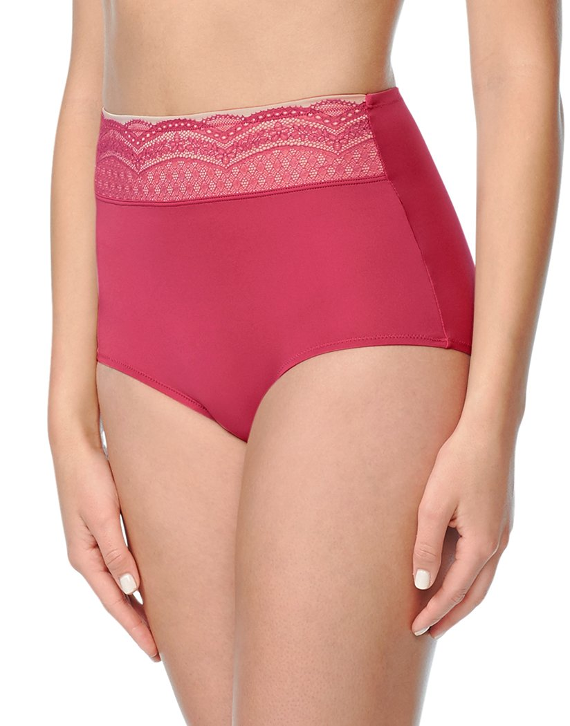 Cherries Jubilee Front Warner's Brief w/ Lace Detail Cherries Jubilee RS7401P