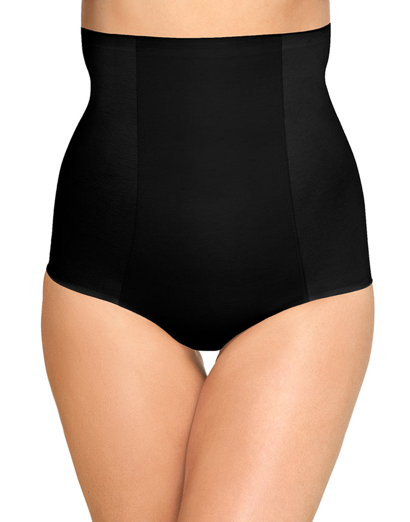 Black Front Wacoal Beyond Naked Cotton Shaping Hi-Waist Brief Shapewear Panty 808330
