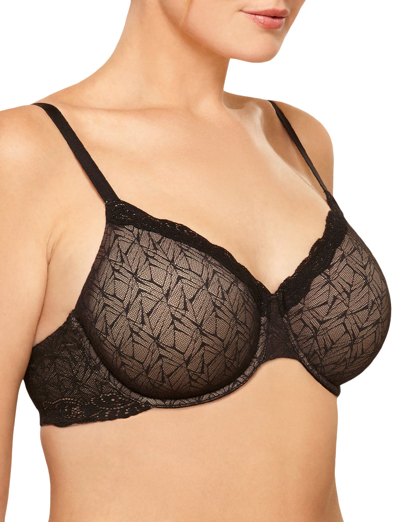 Black Side Wacoal Vivid Encounter Underwire Bra 855295