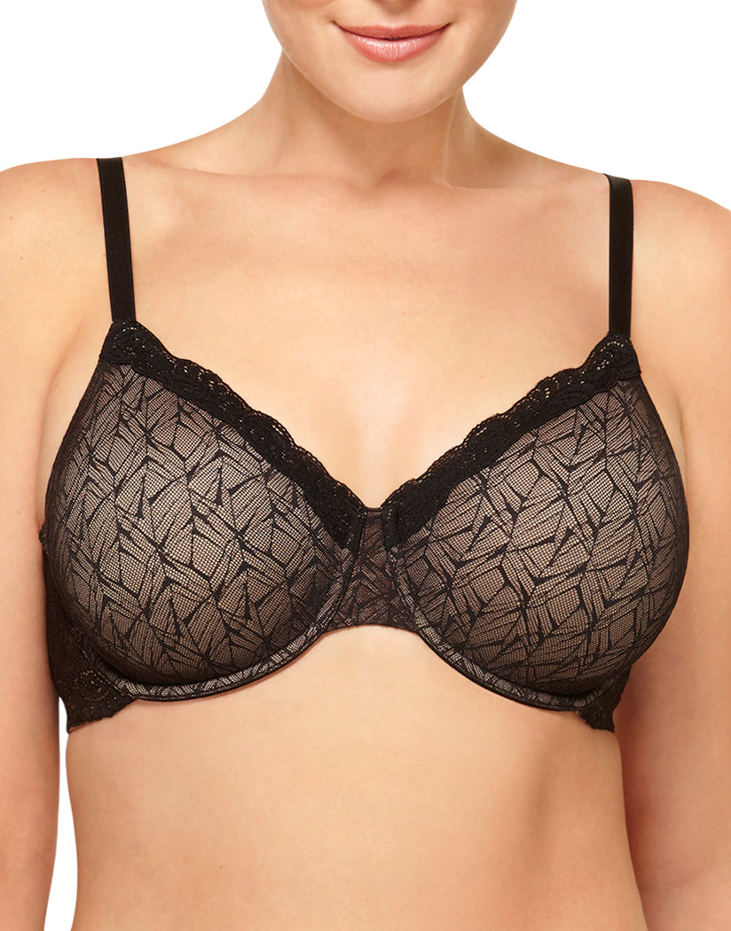 Black Front Wacoal Vivid Encounter Underwire Bra 855295