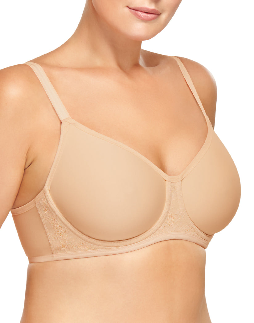 Sand Side Wacoal Final Touch Outer Underwire Back Smooting Bra