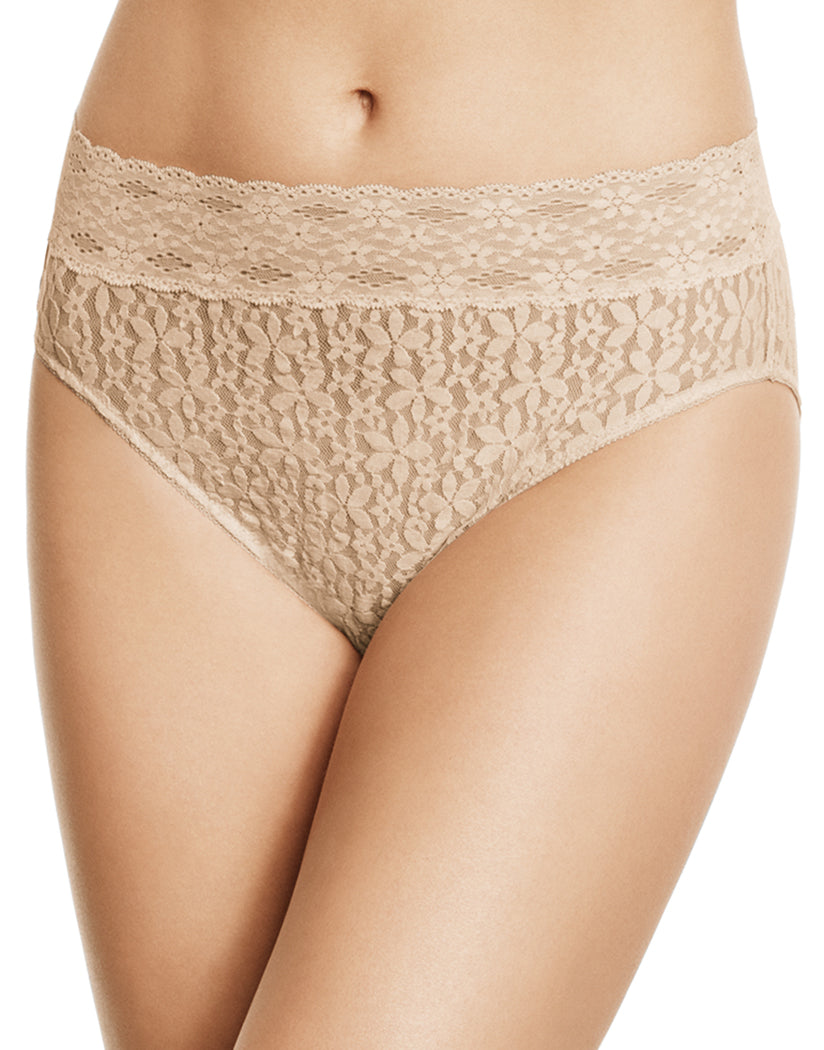 Sand Front Wacoal Halo Lace Hi-Cut Brief