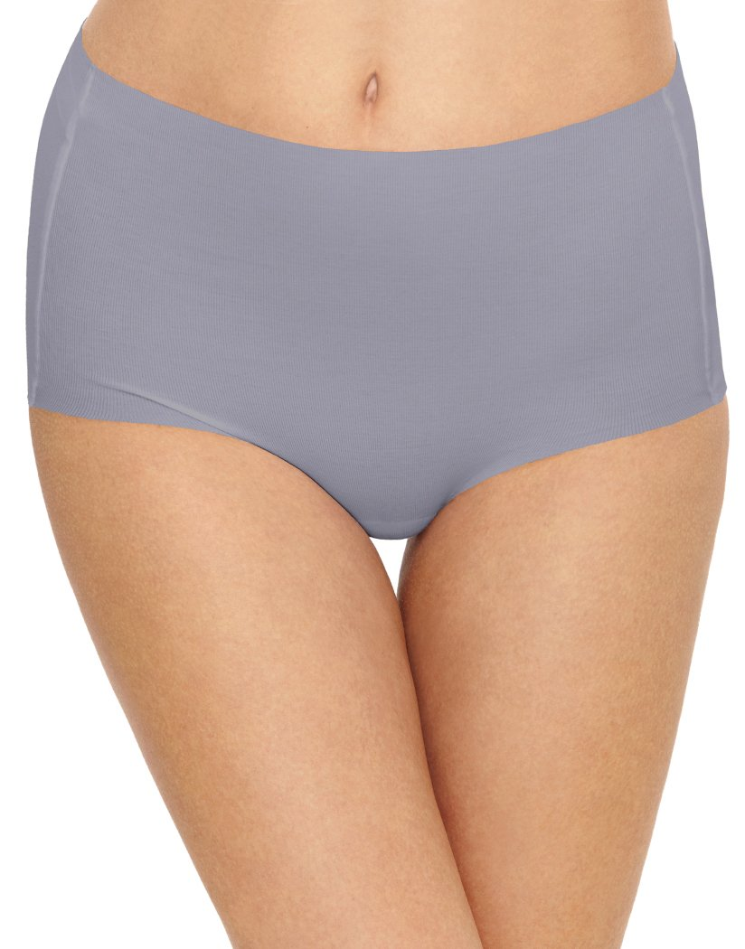 Lilac Gray Front Wacoal Beyond Naked Cotton Brief Lilac Gray 870359