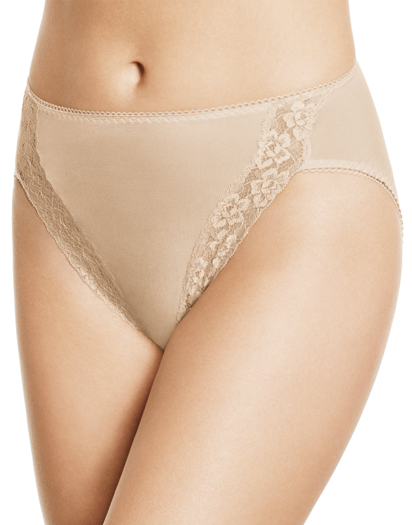 Sand Front Wacoal Bodysuede High Cut Brief
