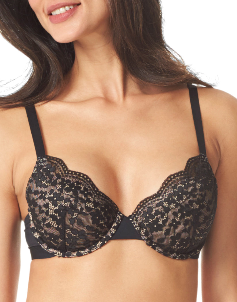Black and Toasted Almond Front Warner's Lace Escape Underwire Contour Bra RF3341A
