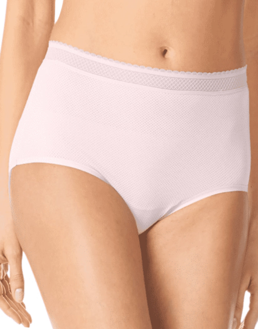 Rose Water Front Warner's Breathe Freely Brief Panty With Lace RS4901P