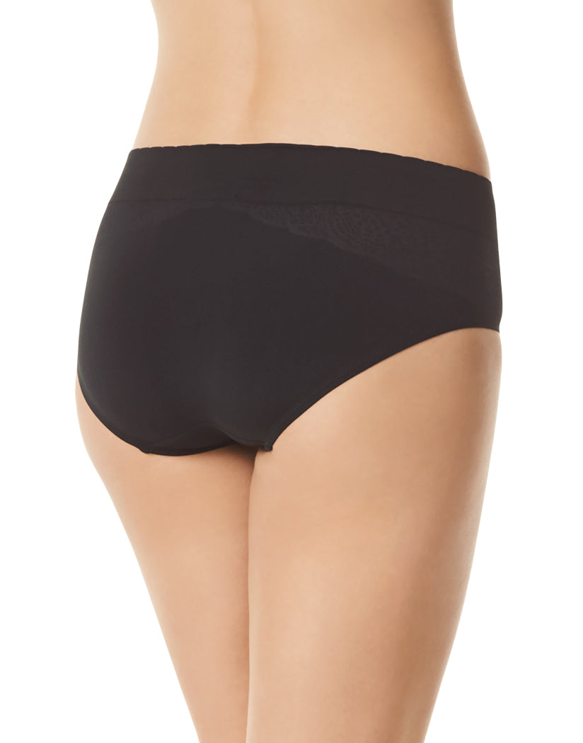 Rich Black Back Warner's Cloud 9 Seamless Hipster Panty RU3234P