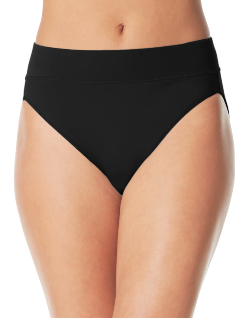 Rich Black Front Warner's No Pinching No Problems High Cut Brief Panty 5138J