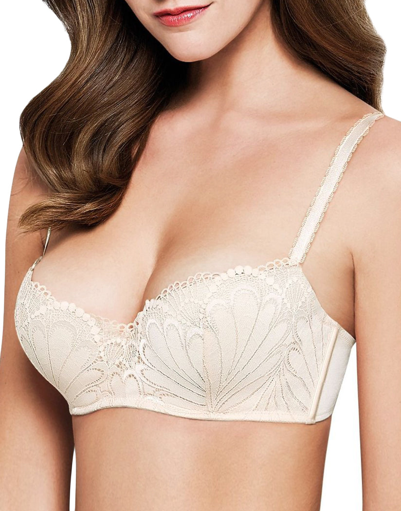 Ivory/White Front Luxe Collection Balconette Push Up Bra