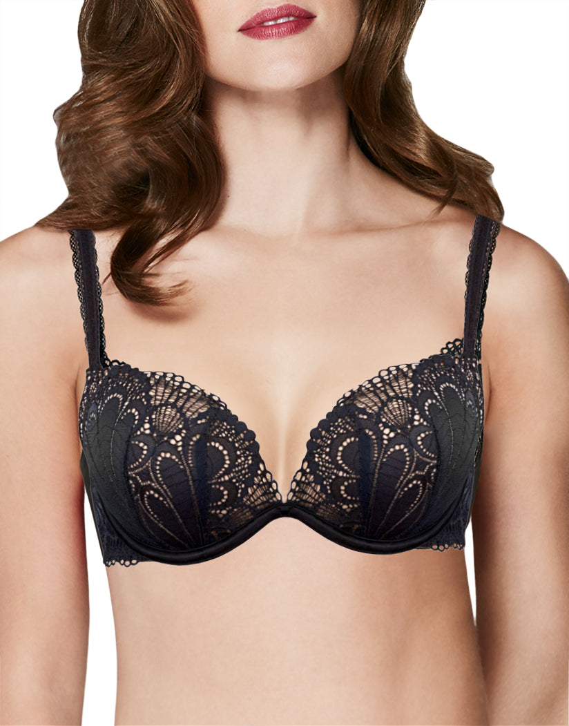 11159be5b7 Black Front Full Effect Push Up Bra