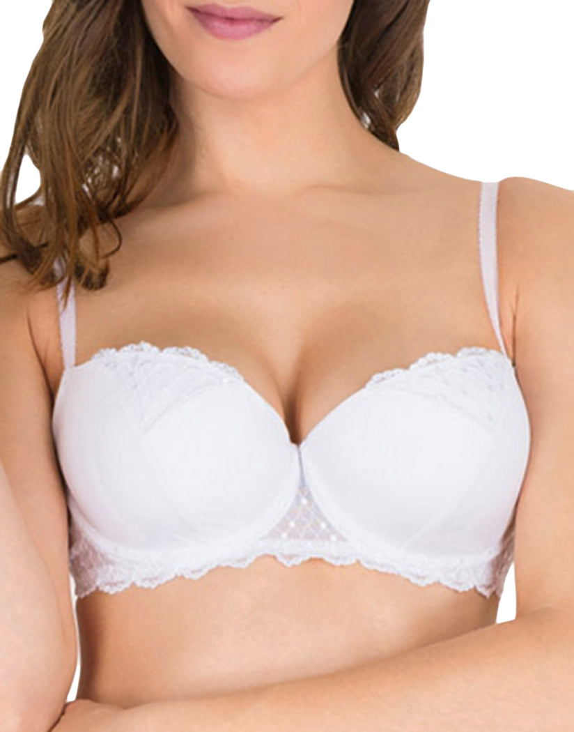 White Front Wonderbra Modern Chic Balconette Push-Up Bra 05G2